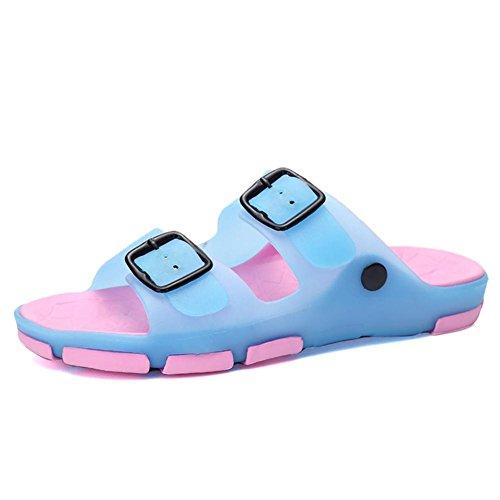 Per Casuale Rosa Lattice Bambini Blu Altro Piatta Shangxian A E Tallone Pantofole Blu Piedi E Infradito Donne D'estate wqt8pn