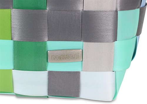 Einkaufskorb Shopper geflochten aus Kunststoff - robuster Strandkorb aus wasserabweisendem Material Classic / Calm