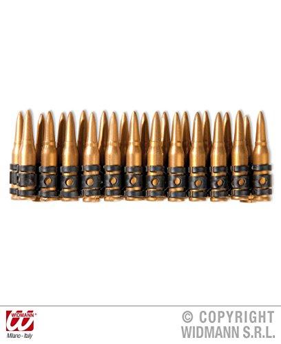 N GÜRTEL - *** 24 PATRONEN ***, Sodaten Militär Ausrüstung Kämpfer Munition (Kunststoff Armee Männer Kostüm)