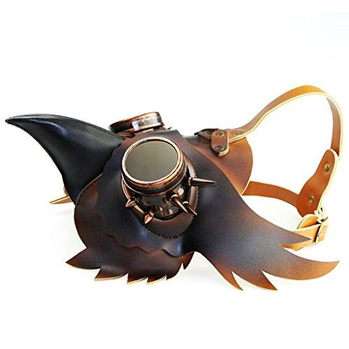 Gazechimp Halloween Steampunk Maske Lange Nase Kostümspiel Leder Maske für (Schnabel Vogel Kostüm Nase)