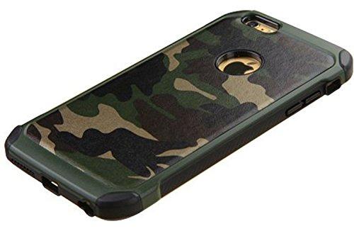 FDTCYDS iPhone 6 Plus Hülle,iPhone 6S Plus Hülle Shockproof Hybrid Rugged Camouflage HandyHülle Schutz Cover Hülle für Apple iPhone 6 Plus/6S Plus (5.5 inch) - Grun (Iphone Hybrid 6plus Case)