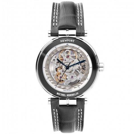 Michel Herbelin Newport Yacht Club scheletro orologio automatico per uomo grigio/argento 1666/sqgr
