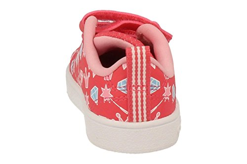 adidas Vs Advantage Clean Cmf Inf, Baskets Basses Mixte Bébé, Blanc, 21 EU Multicolore (Supros / Ftwbla / Rossua)