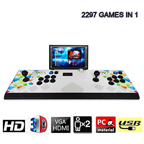 2297 Tragbar Home Arcade Konsole 3D Pandora's Box Spielkonsole Neueste System 1080P Full HD Video Spiel Doppel Stick 2 Spieler, Modell VZ06 -