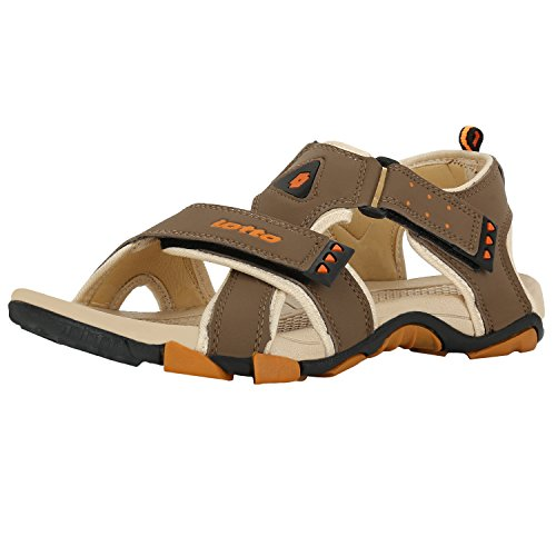 Lotto Men's Olive and Yellow Sandals and Floaters - 8...