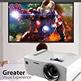 SLB Works Brand New 1200Lumen LED Projector 1080P HD Home Theater HDMI/USB/SD/AV Multimedia Player