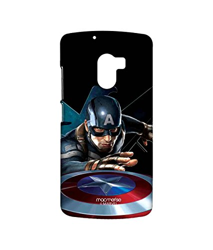 Macmerise Licensed Marvel Comics Captain America Premium Printed Back cover Case for Lenovo K4 Note