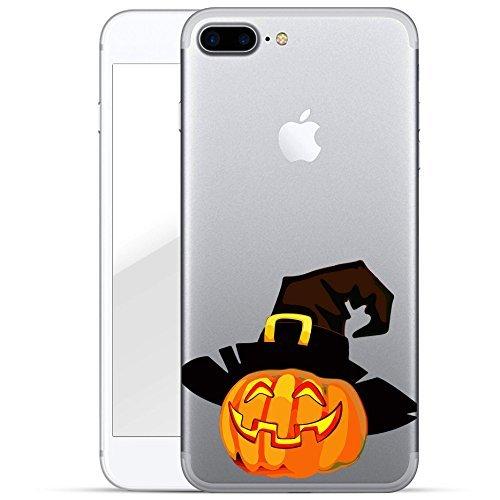 finoo | Iphone 7 Plus Hard Case Handy-Hülle Halloween Motiv | dünne stoßfeste Schutz-Cover Tasche mit lizensiertem Muster | Premium Case für Dein Smartphone| Kürbis mit (Aussparungen Halloween Für Kürbis)