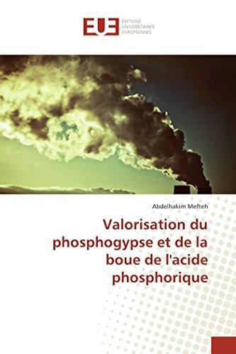 Valorisation du phosphogypse et de la boue de l'acide phosphorique par Abdelhakim Mefteh