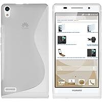 mumbi S-TPU Schutzhülle für Huawei Ascend P6 Hülle transparent weiss