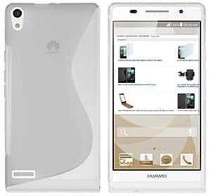 mumbi S-TPU Schutzhülle Huawei Ascend P6 Hülle transparent weiss