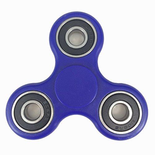 Preisvergleich Produktbild Walmark Zoll EDC Spinner zappeln Spielzeug Stress Relief Lager EDC ADHS Autismus Schwerpunkt Spielzeug Non-3D gedruckt (blau-schwarz)