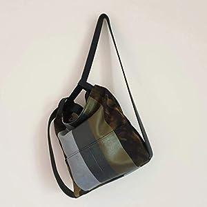 Handgefertigte Unisex-Leder- und wandelbare Segeltuchtasche Rucksack