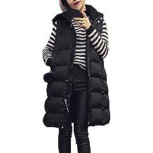 Venmo Abrigos de Mujer Invierno,Mujer Más el Tamaño Chaleco con Capucha Chaqueta Abrigo Parka