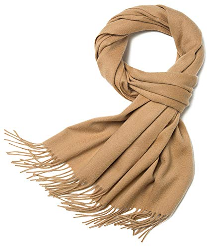 Helan Damen Warme Lammwolle Lange Schal Lange Schal Wraps 200cm X 35cm Sand