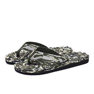 Slippers & amp da uomo;Primavera Estate Autunno Comfort Light Soles tessuto esterno piano casuale tallone W sandali US8.5-9 / EU41 / UK7.5-8 / CN42