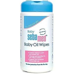 Sebamed Baby Oil Wipes, 70 Sheets, 1 Pack