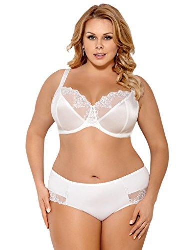 Gorsenia K354 Women's Claire Ecru Cream Knickers Panty Brief Ecru Cream