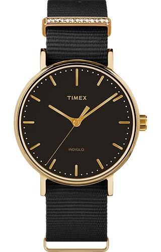 Timex Orologio Analogico Quarzo Donna con Cinturino in Tessuto TW2R49200VQ
