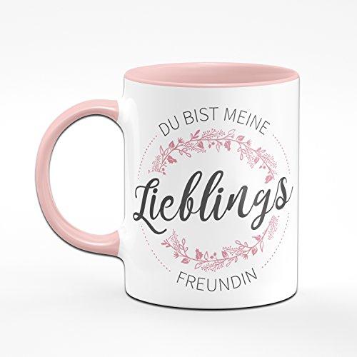 Tasse Du Bist Meine Lieblings Freundin - Kaffeetasse Geschenk für Beste Freudin - Tasse Lieblingsmensch - 2