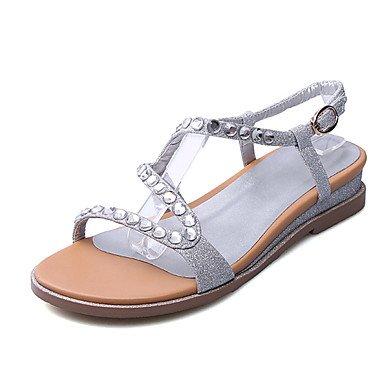 Zormey Damen Sandalen Club Schuhe Microfaser Büro & Amp; Karriere Party & Amp; Abendkleid Flachem Absatz Strass US6 / EU36 / UK4 / CN36
