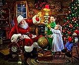 Apioffer 30 x 40 cm Diamantgemälde Gips Stickerei Kreuzstich Ziegelstein und Stein Gemälde Schlafzimmer Wohnzimmer Deko Gemälde Santa Claus