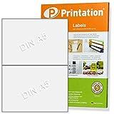 Etiketten 210 x 148,5 mm selbstklebend weiß - 20 Stück auf 10 A4 Blätter 1x2 - Paketaufkleber 3655