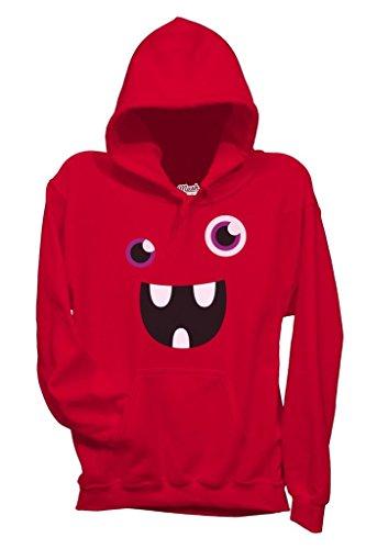 Sweatshirt Face Monster Lol - LUSTIG by Mush Dress Your Style - Herren-M-Rot