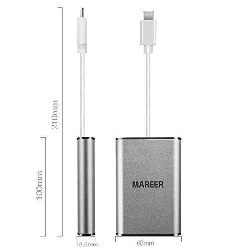 Macroreer USB C Hub (8-in-1) Gigabit Ethernet Port, HDMI 4K, VGA, TF-Kartenleser, Audio, 2 USB 3.0 Anschlüsse, USB C Adapter mit Aufladefunktion für MacBook Pro 2016&2017, Samsung Galaxy S8 S9, Lenovo Yoga 900&910 und andere Type-C Geräten