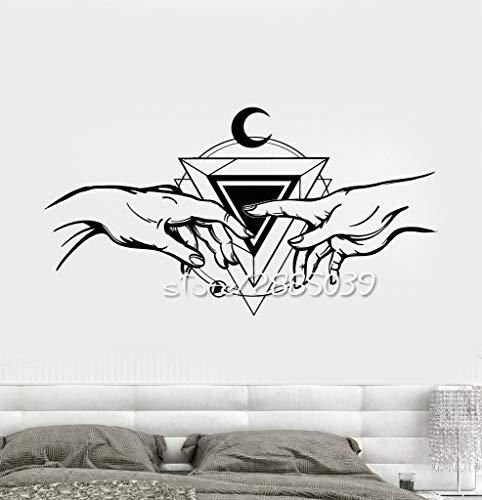 zlhcich Kreation von Adam Triangle Mason Wandaufkleber Artistic Design Home Decor Aufkleber Abnehmbare Ungiftige PVC Wandtattoo 57x106cm