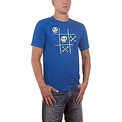 Touchlines Tic Tac Dead Slimfit T-Shirt, Bleu (Royal), XXL Homme