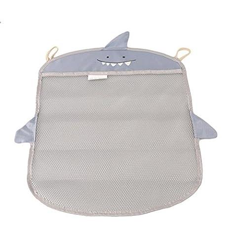 Pizies Baby bath toy storage bags,Bathroom Hanging Organizer(Gray Shark)
