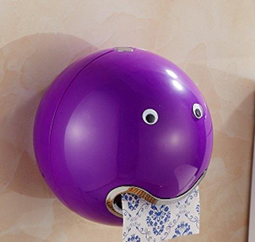 Fuxitoggo Toilettenpapierhalter für Modernes Toilettenpapier Toilettenpapierrollenhalter mit Deckel für Küchenbüro (Farbe : Lila)