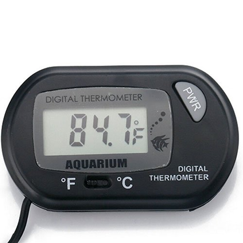 ter, Mini LCD Digital Thermometer, Geeignet für Terrarium Meerestemperatur Aquarium Aquarium Schwarz ()