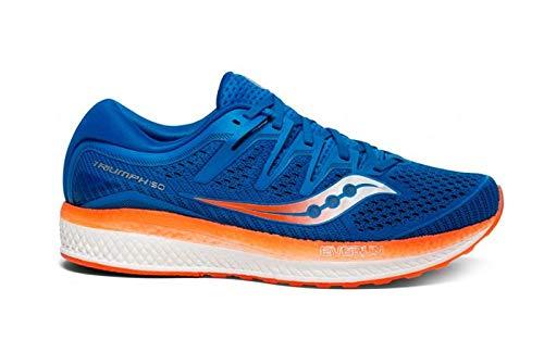 Saucony Triumph ISO 5, Scarpe Running Uomo, Blu (Blue/Orange 36), 43 EU