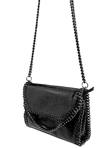 bag2basics Flapbag | Echtes Leder made in Italy | Umhängetasche Clutch