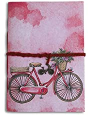 SPCreation Vintage Bicycle Handmade Handicraft Diary (12.7cm X 17.78 cm) (94 Pages)
