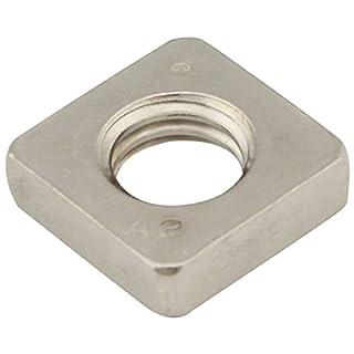 Vierkantmuttern (niedrige Form) - M4 - (100 Stück) - DIN 562 - Edelstahl A2 (V2A) - Einlegemutter - SC562   SC-Normteile®