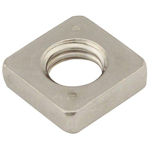 Vierkantmuttern (niedrige Form) - M2,5 - (25 Stück) - DIN 562 - Edelstahl A2 (V2A) - Einlegemutter - SC562 | SC-Normteile®