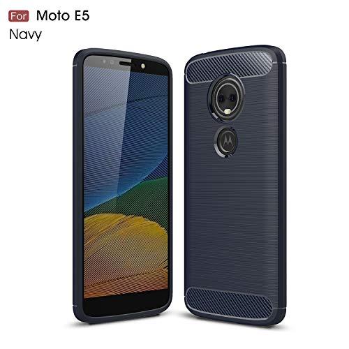Motorola Moto E5 Hülle (XT1920DL) YMH strapazierfähige Panzerfolie und stoßdämpfende TPU-Hülle, für Moto E5 (Tracfone, Simple Mobile, Straight Talk, Total Wireless), Navy