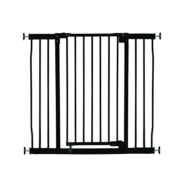 Dreambaby Liberty Xtra-Tall & Wide Safety Gate (Fits 99cm-106cm) Black Dreambaby MEASURE YOUR OPENING BEFORE PURCHASING - This gate ONLY fits openings 99 to 106 cm. It will not fit any opening smaller than 99 cm. If your opening is larger than 106 cm you will require an additional purchase of an extension. VERSATILE AND DEPENDABLE- Our Dreambaby Liberty gate is loaded with features to not only help make your life easier but safer too. Versatile indeed, it can accommodate openings of 99 to 106 cm wide and is 93 cm tall. Using optional extensions sold separately, the gate can be extended up to 306 cm. ONE HANDED OPERATION - The One-Handed operation is fantastic for times when you're holding your child and the double locking feature ensures extra security to help keep your child safer. 1