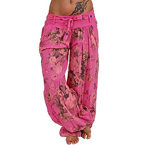 RISTHY Pantalones Anchos Mujer