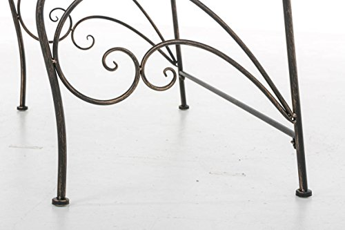 CLP Gartenbank ORKUN im Landhausstil, Eisen lackiert, 107 x 50 cm, 2er Sitzbank Bronze - 8
