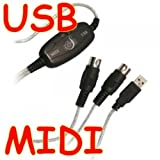 Proster USB zu MIDI Kabel Adapter USB zu MIDI Interface Kabel Adapter Adapter USB zu MIDI Konverter PC für Keyboard zu Laptop unterstützt Windows XP und Vista Adapter Kabel 2m