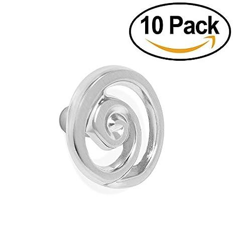 BirdRock Home Spiral Cabinet Knobs | Brushed Nickel | 10