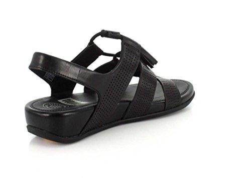 Fitflop Iam_purepoison Sandalo In Pizzo-up (perf) Tutto Nero All Black