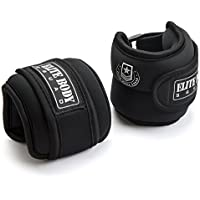 Elite Body Squad Ankle Weights Pro Quality Adjustable Leg Weights 1kg x 2 - On Ankles For Walking + Running Or Hands For Strength Training Exercise For Men And Women - 100% Quality Guarantee