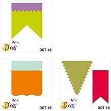 Toga dct16de Cos Trio de banderines de troqueles Metal gris 5x 5x 0,2cm)