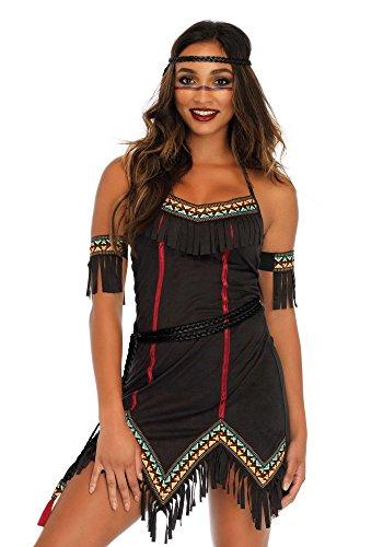 Kostüm Tiger Sexy - shoperama Tiger Lily Damen-Kostüm von Leg Avenue Indianerin Squaw Kleid sexy, Größe:S