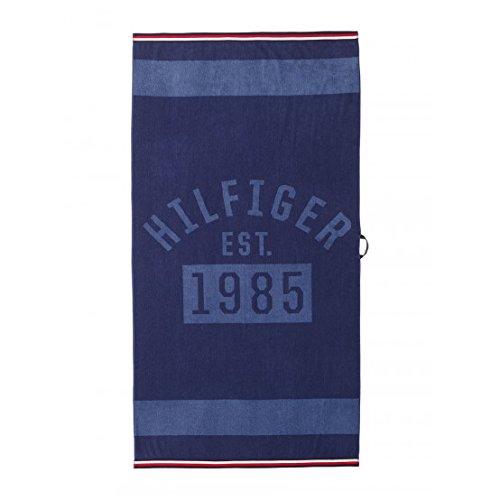 Tommy Hilfiger Toalla Playa o Piscina 100{3bfd470cec3c718bb8deab3b2a01164276780ef5852cf5acfb95d0240de7958f} Esponja Disponible de Puro Algodón cm 90x 180 Denim - Blue
